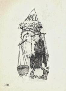 Một trong những bức tranh trong cuốn sách này, tuy là hí họa nhưng lại mang nét buồn của đất nước chiến tranh khi thế giới bước vào mùa Giáng sinh vui vẻ trong năm 1972. Nếu quan sát kỹ hơn người xem sẽ thấy hai ngón chân cái của ông giao nhau vì ông vốn là người… Giao Chỉ.
