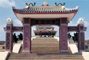 Temple on Long Binh Road Feb 1969
