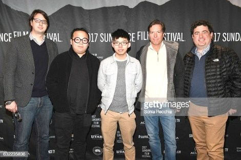 "attends the ""Joshua: Teenager vs. Superpower"" premiere during day 2 of the 2017 Sundance Film Festival at Temple Theater on January 20, 2017 in Park City, Utah."